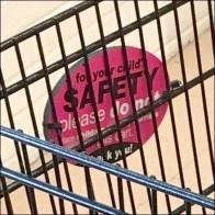 Reverse-Reading Shopping Cart Warning