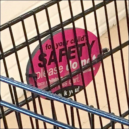 Shopping Cart Child Safety Warning Aux