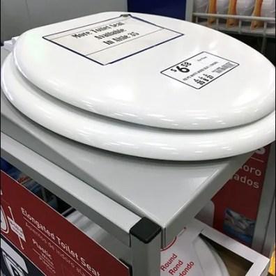 Toilet Seat Display at Cashwrap