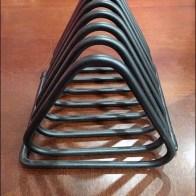 Triangular Wire Literature Rack Run Amok End View Main
