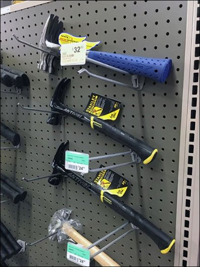 Twin Pegboard Hooked Hammers 2