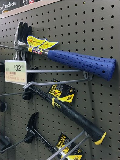 Twin Pegboard Hooked Hammers 3