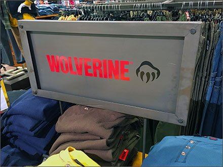 Wolverine Metal Plate Branded Sign Main