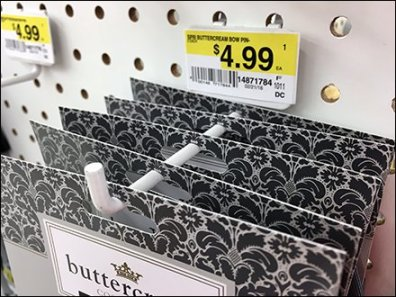 Jo-Ann Backlabeled 90º Tip Display Hooks For Pegboard