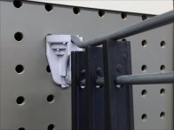 Bar Clamp Straight Entry Pegboard Hook 3