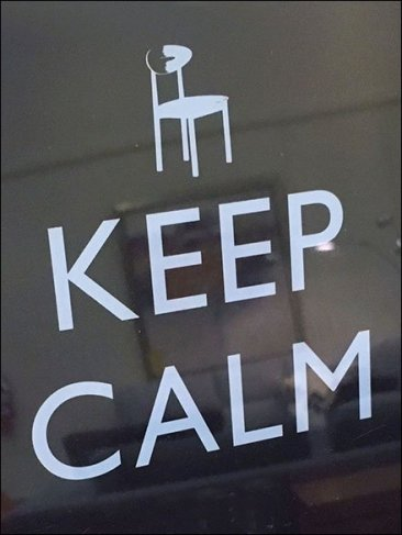 dane decor uniters keep calm only scratch closeup - Dane Decor