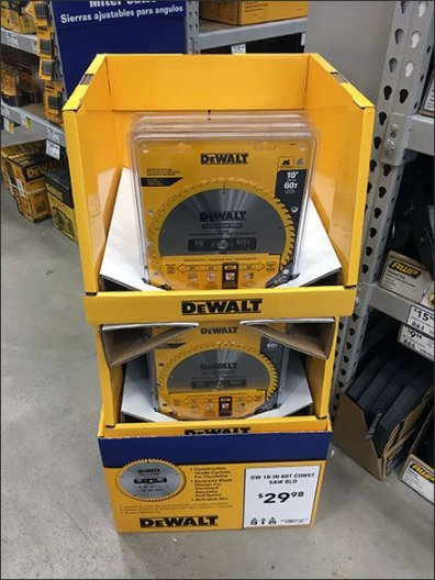 DeWalt Case Lot Easily Dominates Saw Aisle Traffic