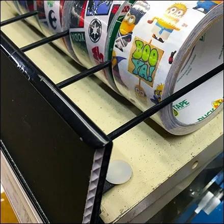 Duck Tape Enforces Lane-Control On-Shelf
