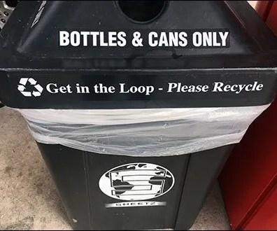 Four-Way Recycle Bin Aux