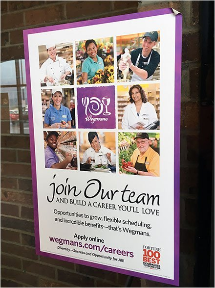 Wegmans Join Us Team Recruiting
