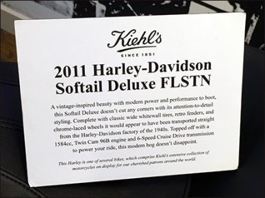 Kiehl's Do Not Touch Harley-Davidson Caption