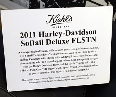 Kiehl's Do Not Touch Harley-Davidson Caption