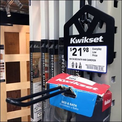 Kwickset Door Knob Loop Hook Strip Merchandiser Main