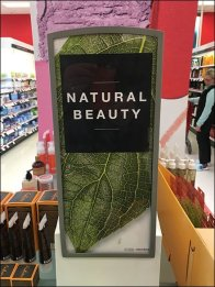 Natural Beauty Perforated Sign Holder 1