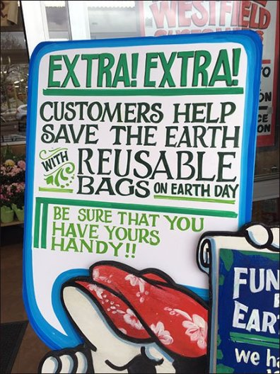Trader Joes Earth Day Weekend Signage