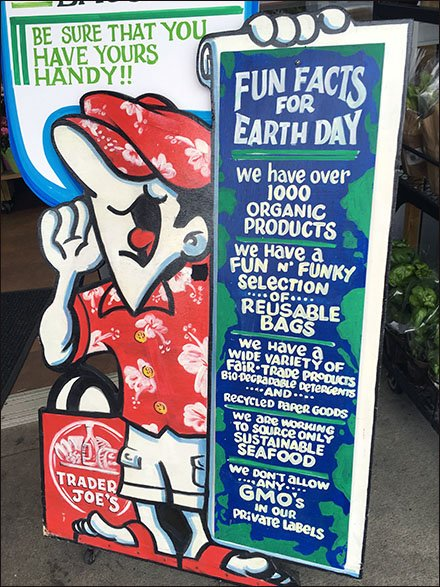 Trader Joes Earth Day Signage Main