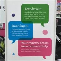 Stroller Shopping Literature Holder