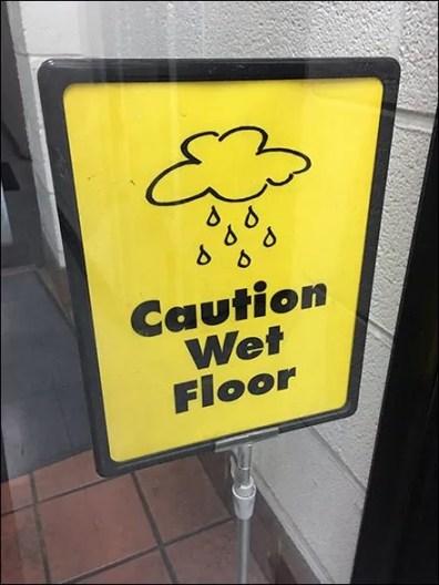 Caution Wet Floor Warning 3