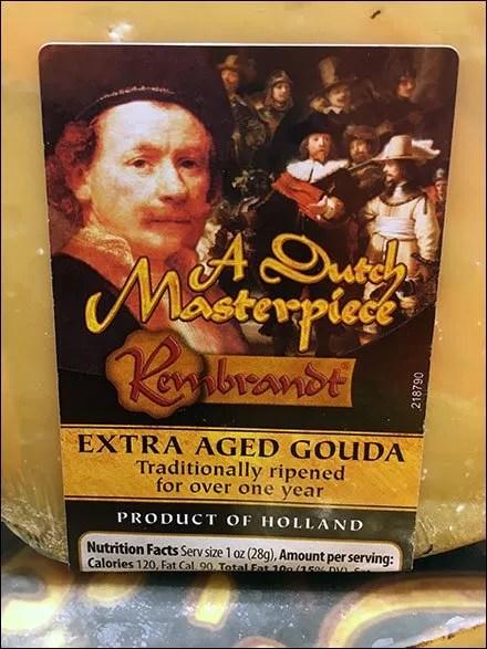 Kings Dutch Masterpiece Gouda Circular Island Closeup