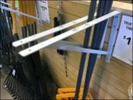 Leaf Rake Sidewall Double-Prong Wall Mount 3a