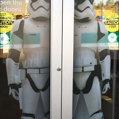 Star Wars Trooper Door Cling Display 2