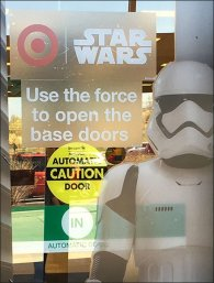 Star Wars Trooper Door Cling Display 3