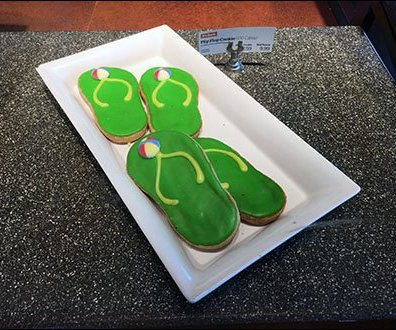 Flip Flop Cookies And Sign Clip 1