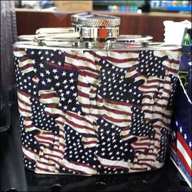 Patriotic Hip Flask 1