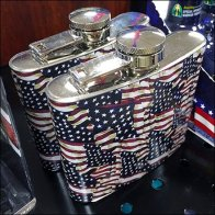 Patriotic Hip Flask Begs Cross-Sell to Breathalyzer