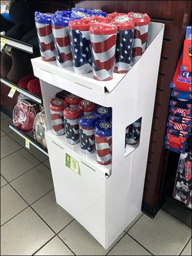 Patriotic Mug Corrugated POP 2