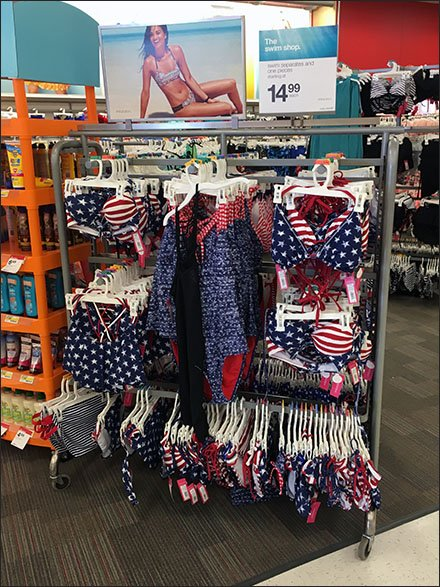 Patriotic Swimwear Merchandising Array Mian