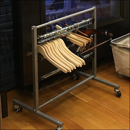 Ralph Lauren Clothes-Hanger Rack Goes Mobile