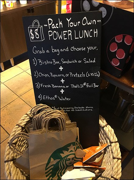 Starbucks Grab-N-Go Pack-Your-Own Power Lunch