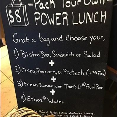 StarBucks Grab-N-Go Power Lunch Assortment 3