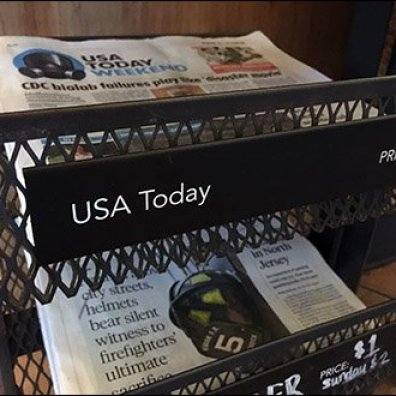 StarBucks Top-Dog Newspaper Display Rack 3
