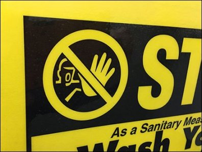 Stop Wash Hands Before Leaving Restroom 3