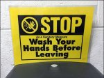 Stop Wash Hands Before Leaving Restroom Aux