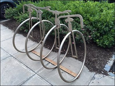Unicycle Bicycle Rack 1