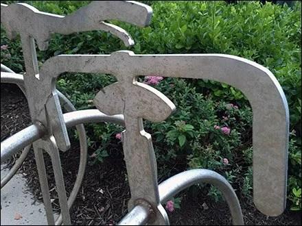 Unicycle Bicycle Rack 3