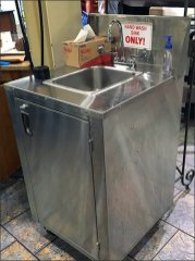Wegmans Portable Hand Wash Sink 2