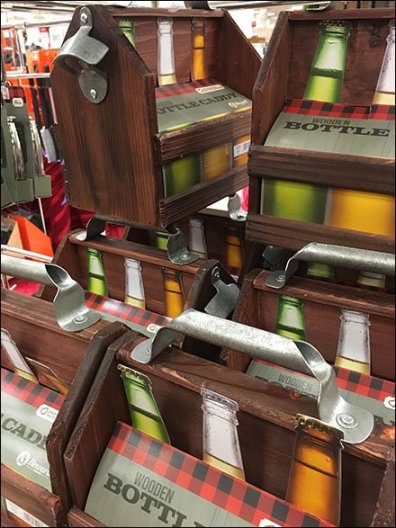 Wood 6-Pack Bottle Carry Merchandising 2