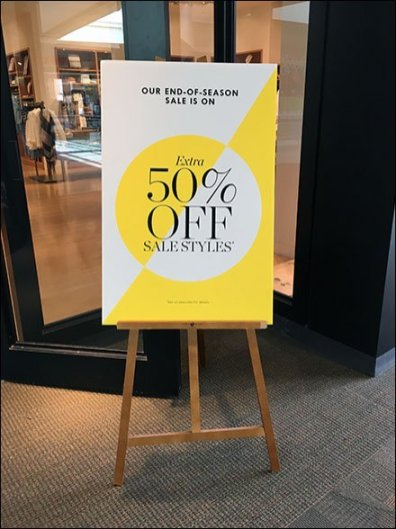 End od Season Sale Easel 1