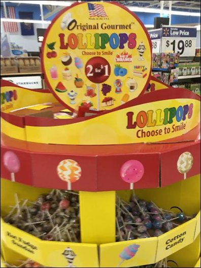 Original Gourmet Lollipops Bulk Bin Pallet Display