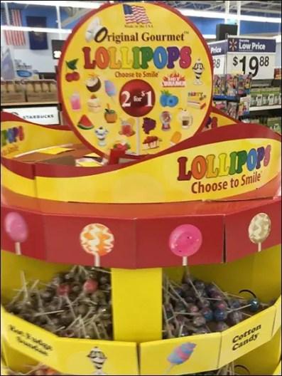 Original Gourmet Lollipops Bulk Bin Pallet Display