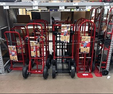 Crowded Hand Truck Parking Venue As In-Store Merchandising