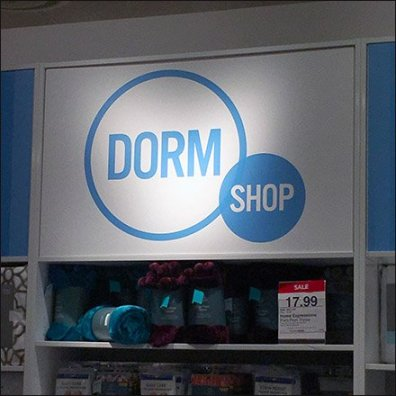 JC Penny Dorm Shop Sign Feature