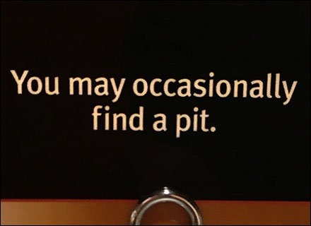 Occasional Pit Coil Clip Sign Closeup