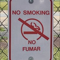 Pocono Skydivers No Fumar No Smoking Sign CloseUp