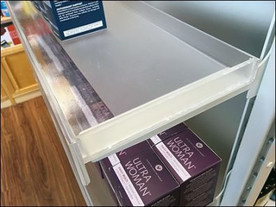 Acrylic Endcap Trays With Metal Supports 3