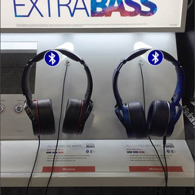 Sony Headphone Display Offers Extra Bass Via Bluetooth